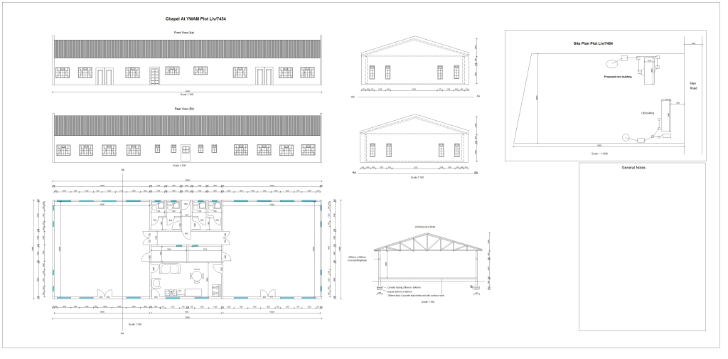 This is a draft of the kind of multi-purpose building we need to move forward as a ministry