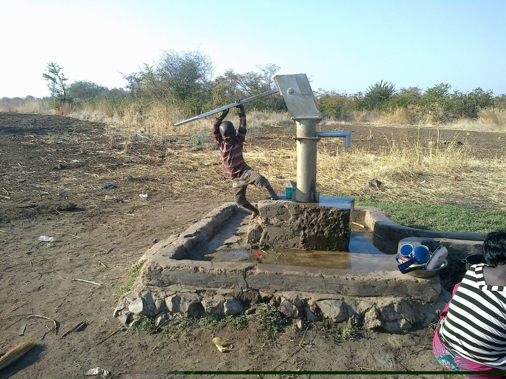 Labour intensive borehole at Chileleko blind people's settlement